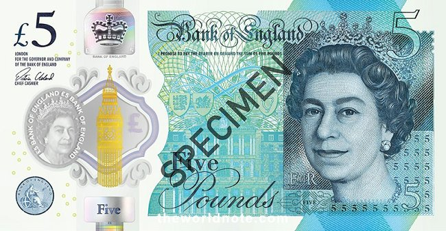 Bank of England  first issued our current £5 note in 2016
