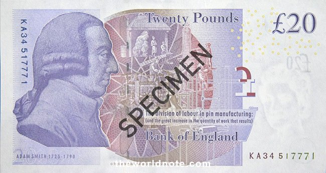 Bank of England  first issued our paper £20 note in 2007