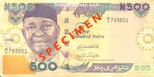 2007 ₦500 Nigeria  Date Released:4th April, 2001