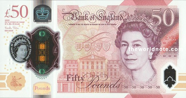 £50 GBP 2021 the front is Elizabeth II